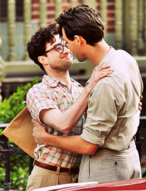 Daniel Radcliffe e Jack Huston no set de Kill Your Darlings (Divulgação)