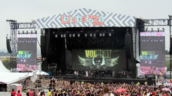 O palco do Volbeat.