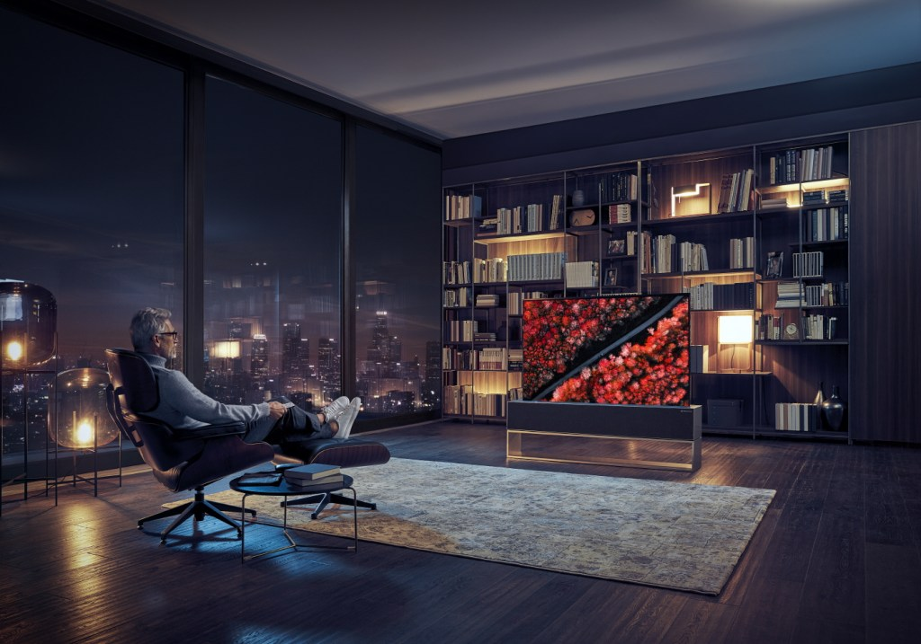 LG inaugura la era de los televisores enrollables