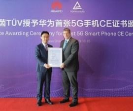 HUAWEI Mate X recibe el primer certificado 5G CE del mundo
