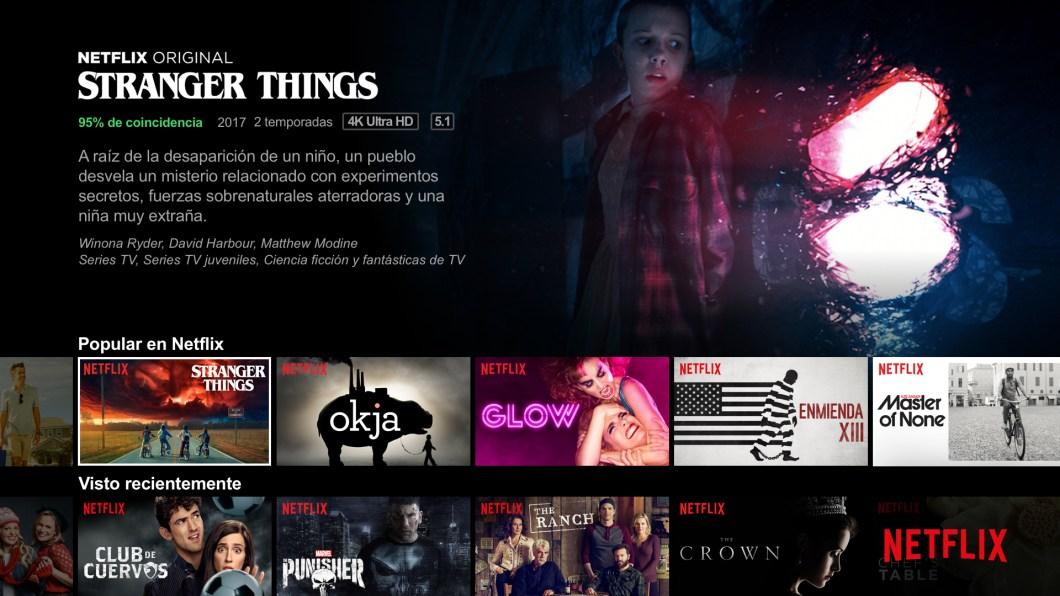 Modo calibrado de Netflix