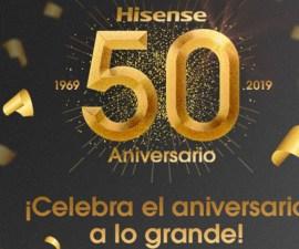 Hisense celebra su 50 aniversario