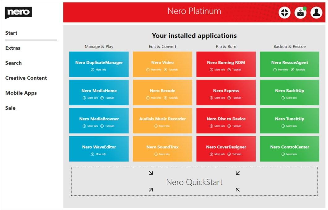 Editor de audio y video Nero Platinum