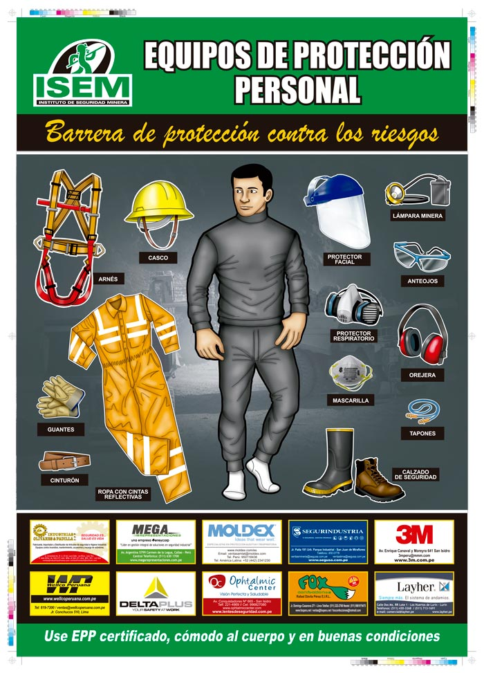 Afiche de Equipos de Protección Personal 2016