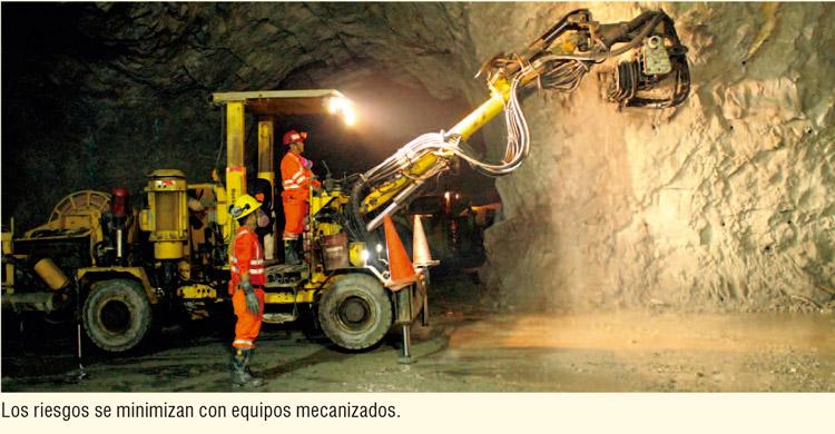 Los riesgos se minimizan con equipos mecanizados