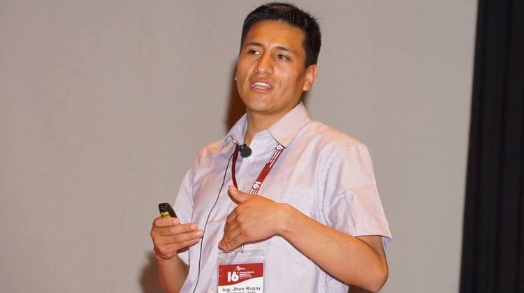Jhon Rupay en Congreso Peruano de Ingeniería de Mantenimiento