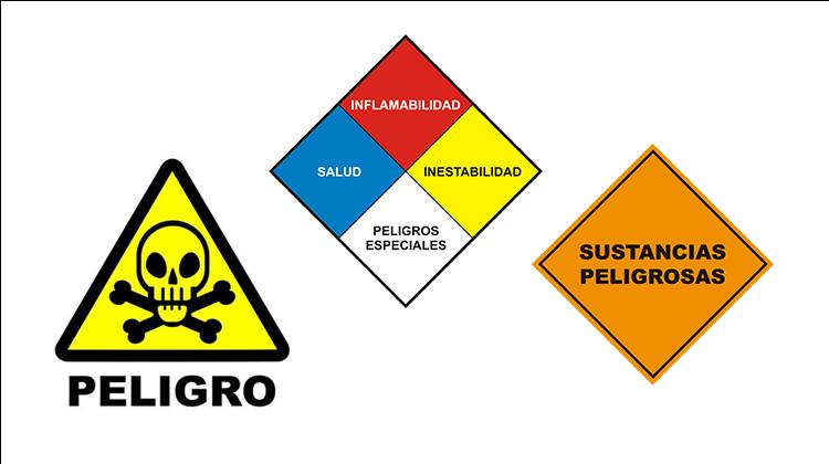 Identificación y clasificación de 9 tipos de materiales peligrosos