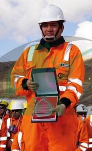 Luis Torres, supervisor de la mina Alpamarca.