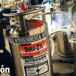 Manejo de recipientes de gases comprimidos