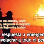 Plan de respuesta a emergencia exige involucrar a todo el personal
