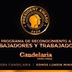 Minera Candelaria premia a trabajadores por ser ejemplo de valores corporativos