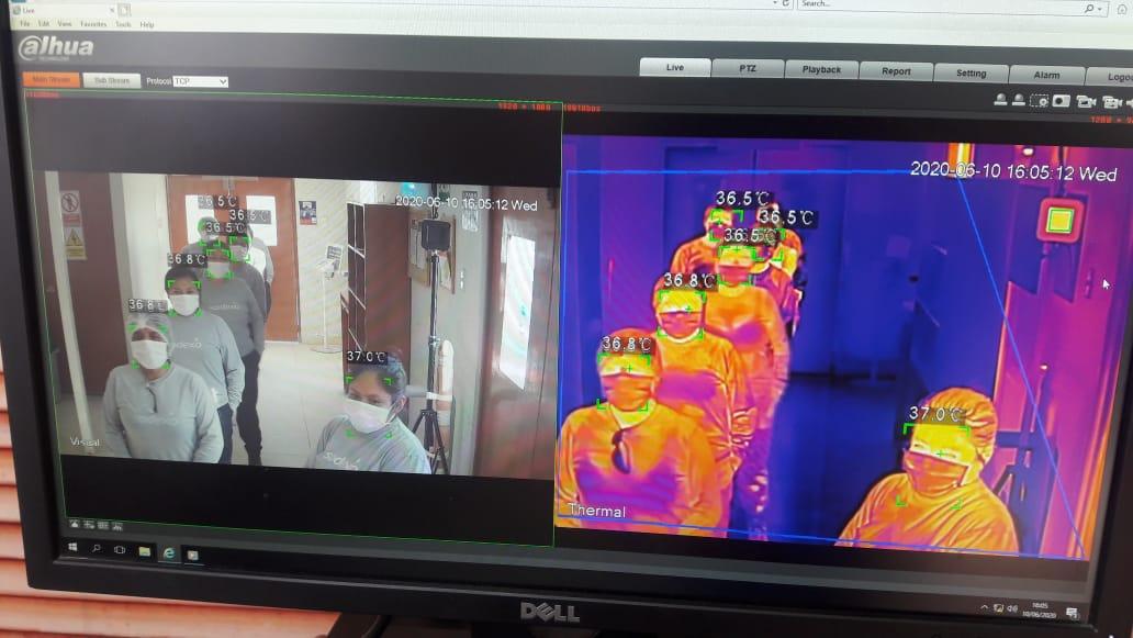 Una muestra del esfuerzo contra el COVID-19 es la adquisición de cámaras termográficas