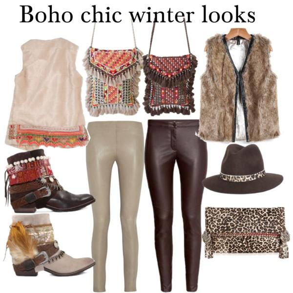 Looks boho chic invierno