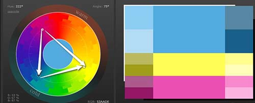 Como combinar colores triada