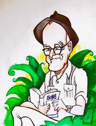 Samuel Feijóo. Caricatura.