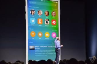 Craig Federighi, el vicepresidente principal de ingeniería de software de Apple, presentó iOS 9 el lunes, 8 de junio.