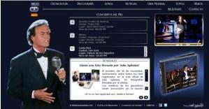La nueva web de Julio Iglesias se realiza con el gestor de contenidos Content-SORT