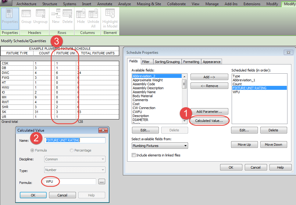 Showing per Unit and Total Counts in a Schedule | REVIT AU