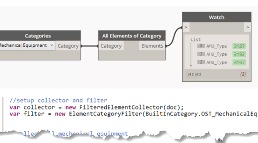 From Dynamo to C# – All Elements of Category