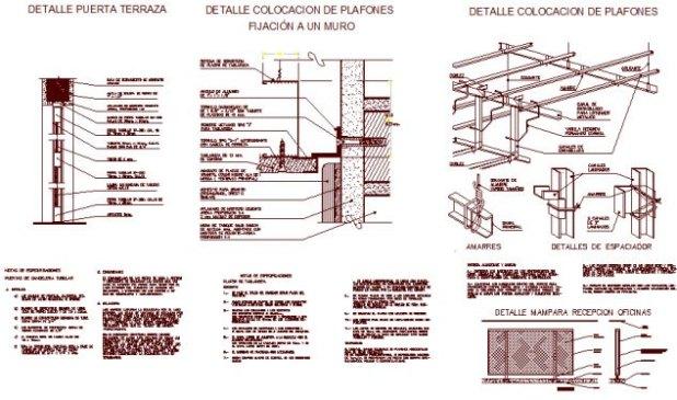false ceiling pdf construction and details