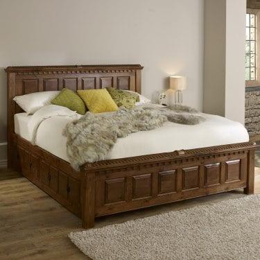 solid wood bed handmade wooden beds uk