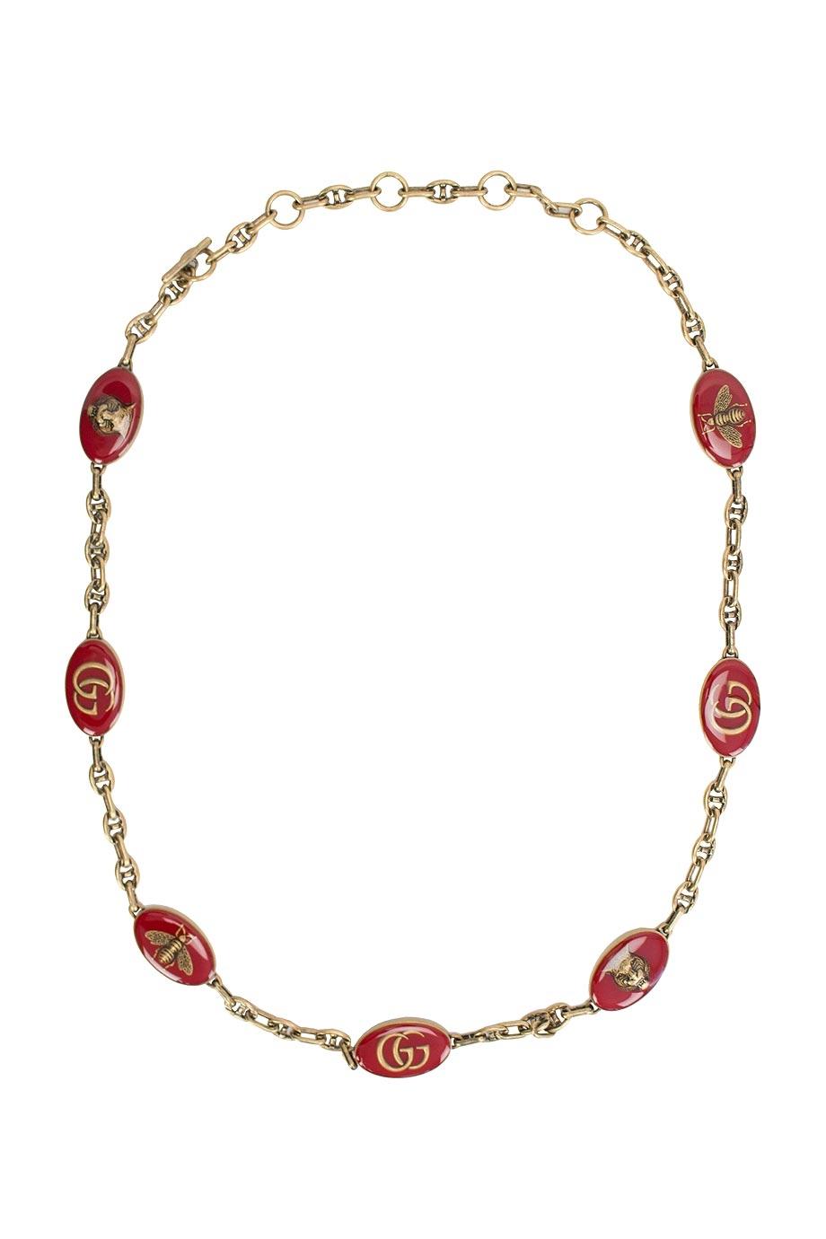 Gucci cintura collana metallo dorato 524108