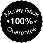 100% money back return policy