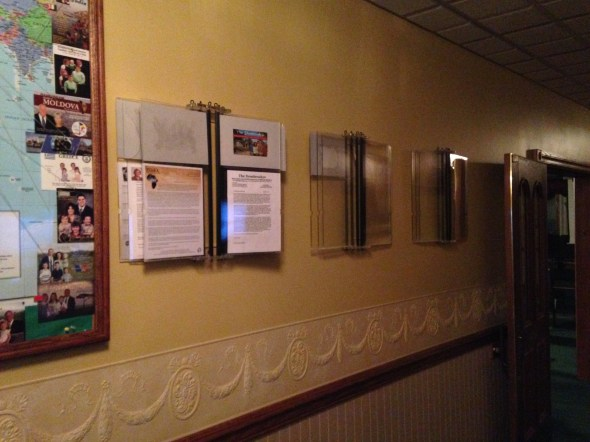 What a great way to display missionary prayer cards and prayer letters!