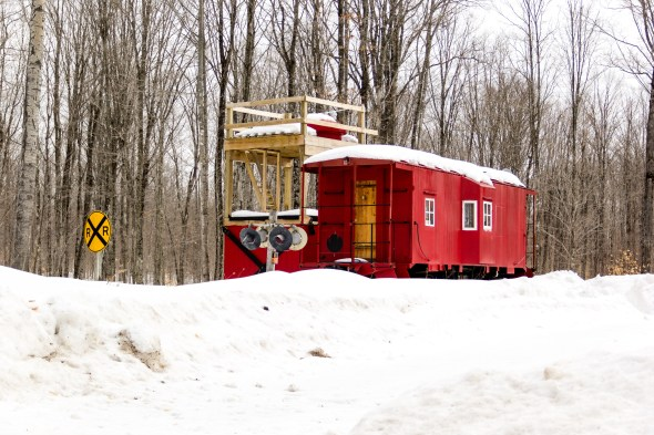 A caboose house! Can you imagine living in a caboose?