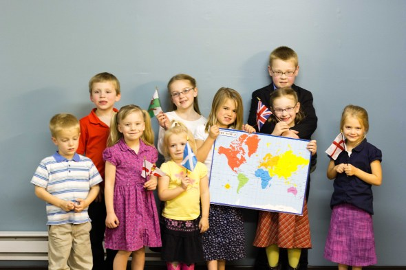 Children from the Junior Conference