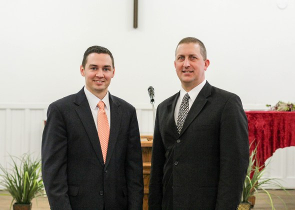 Kevin and Pastor John Lutz of North Coast Baptist Church in Lakewood, Ohio.