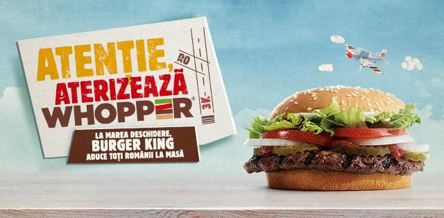 Burger King se relansează în România pe 26 septembrie – primul restaurant va fi în Mega Mall