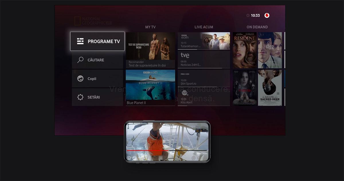 Vodafone a lansat Vodafone TV, un serviciu de televiziune digitală cu multe funcții în premieră