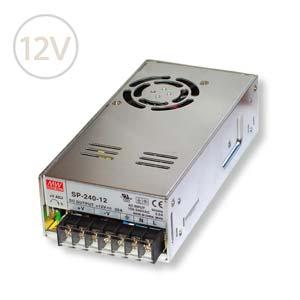 Prachuvzdorný napájací zdroj Mean Well pre Led pásy s filtrom PFC 12V / 240W / IP20