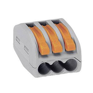 Krabicová svorkovnica WAGO 222, 3x0.08-4mm²