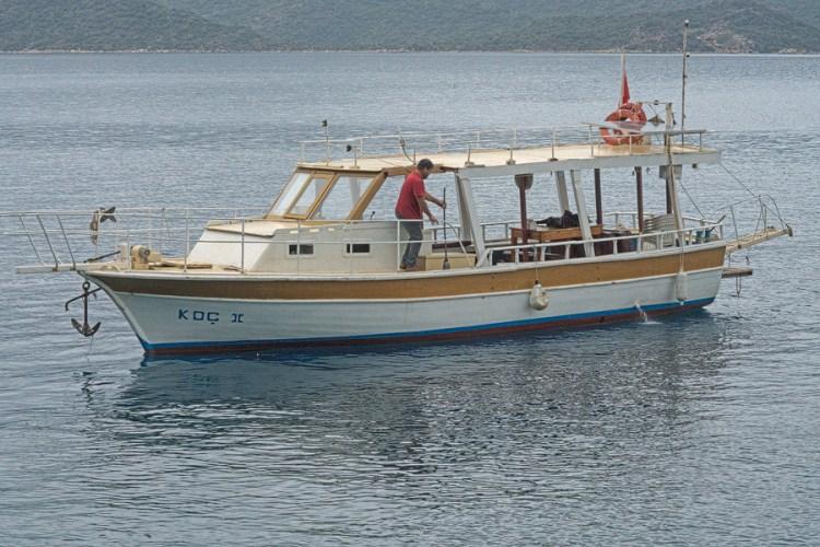 Koç II and skipper, Ramazan. Kekova, 26/11/15.