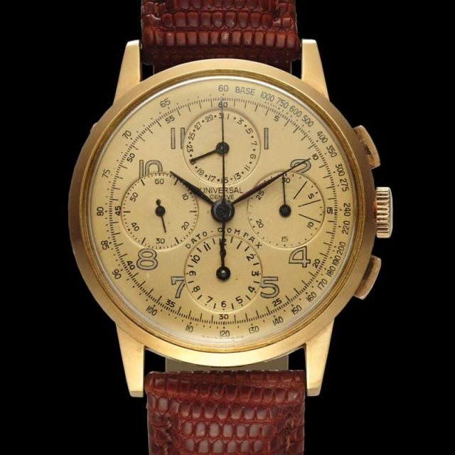 Universal Genève Dato-Compax Chrono Pink Gold