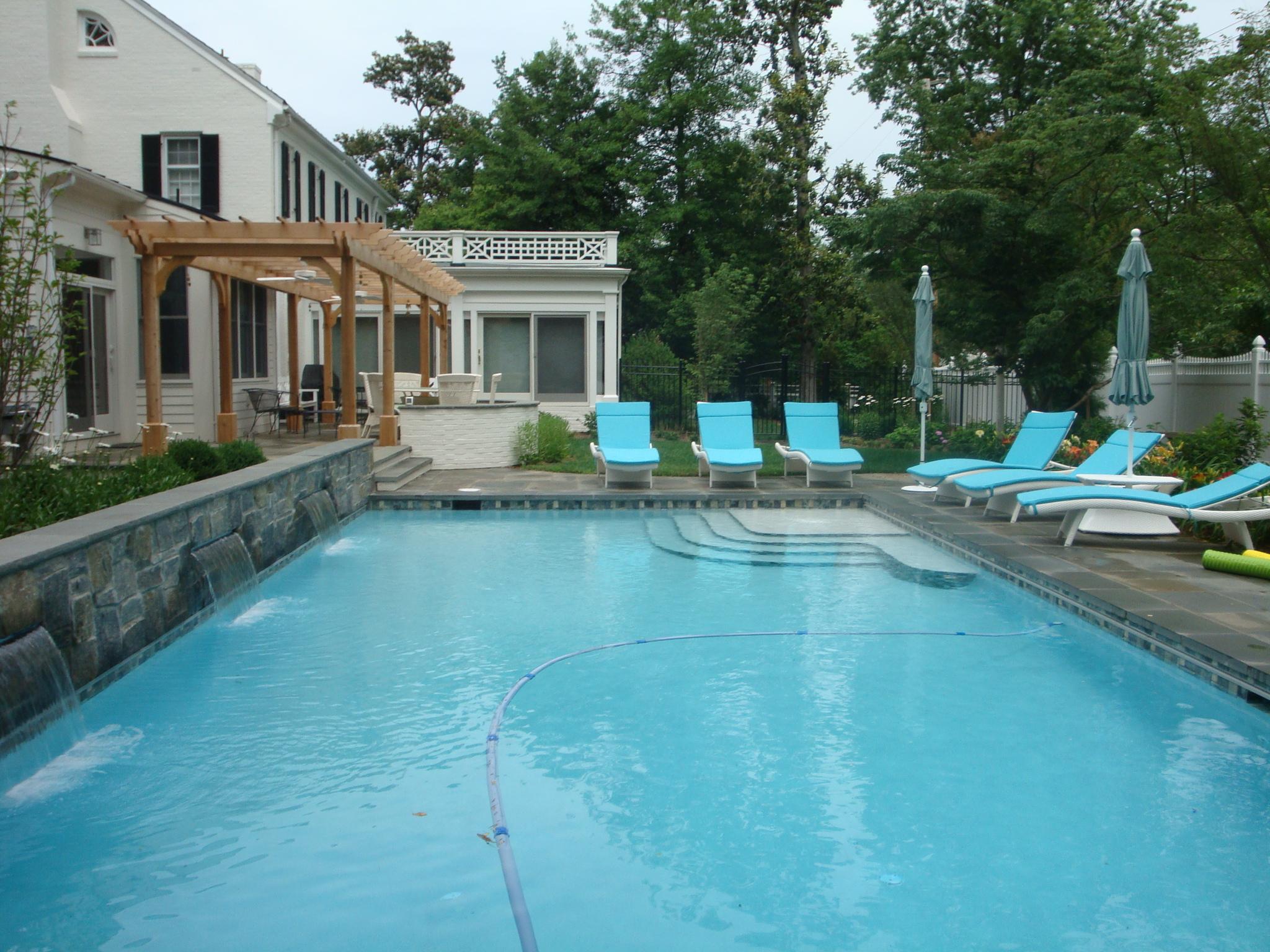 Fredericksburg Pool, Patio & Pergola Design ... on Pool Patio Design id=29608