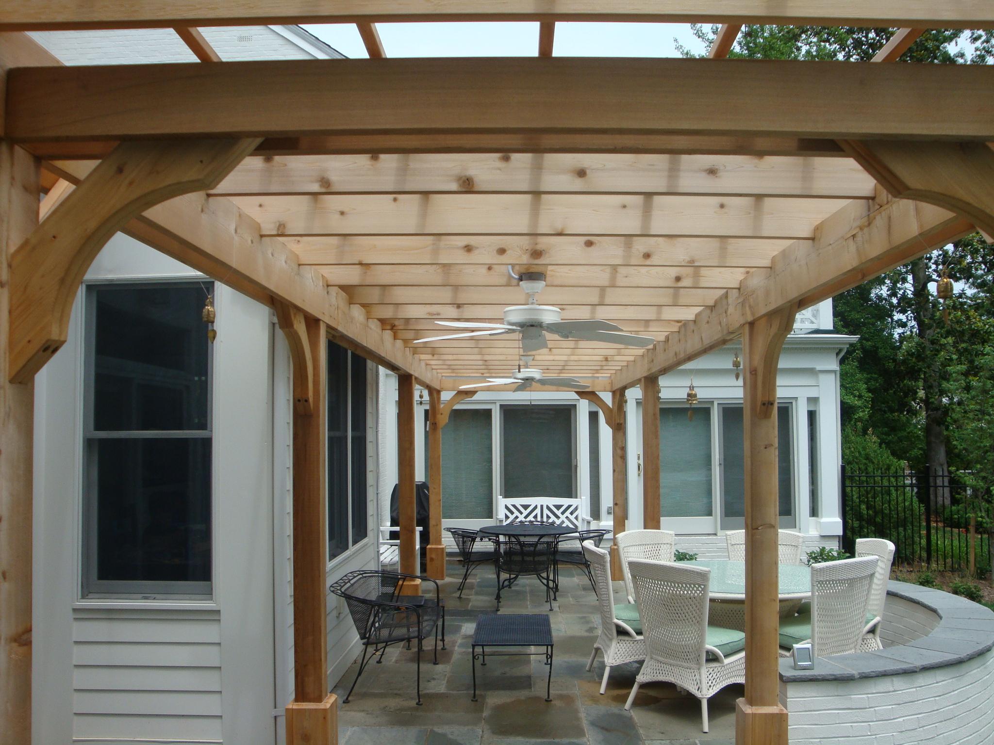 Fredericksburg Pool, Patio & Pergola Design ... on Covered Pergola Ideas  id=84548