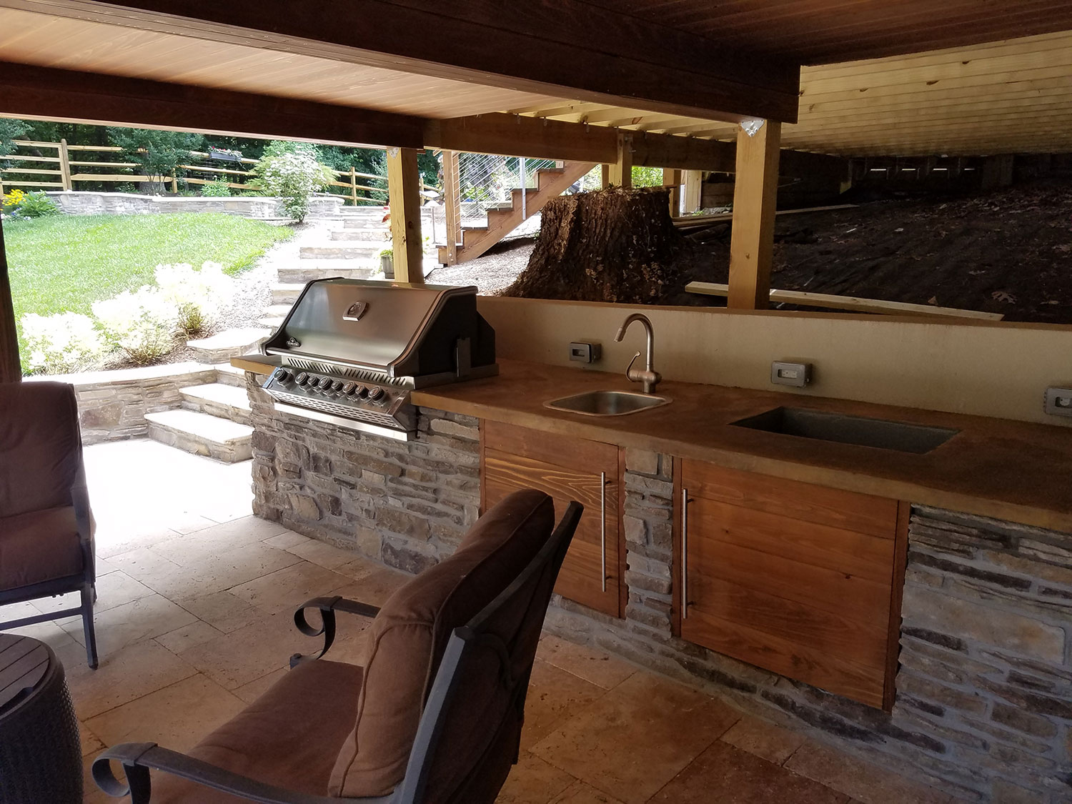 Fireplaces & Outdoor Kitchens - Revolutionary Gardens on Patio Kitchen id=35622