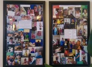 Wall of kid chiropractic patients at Revolution Chiropractic