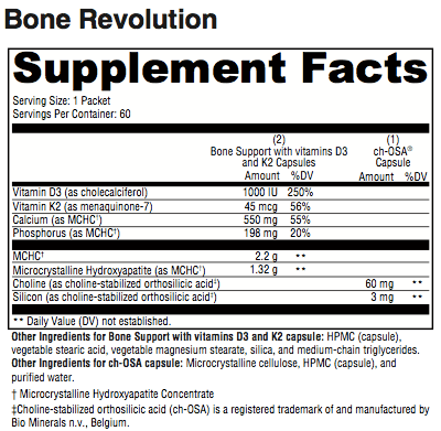 Bone Revolution Supplement Facts