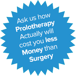 Starburst - Ask us how prolotherapy will cost less than surgery