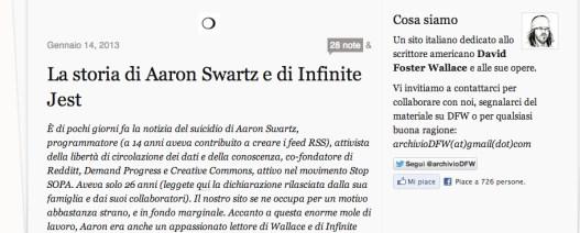 Aaron Swartz e Infinite Jest