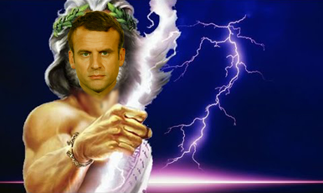 Image result for macron comme jupiter