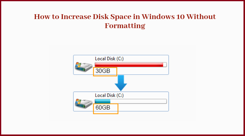 How do I Increase Disk Space in Windows 10 Without Formatting?