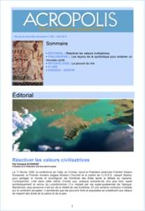 Première de couverture de la Revue Acropolis n°252