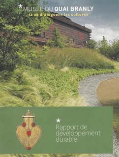 Couverture du rapport de dévelopement durable du musée du quai branly.