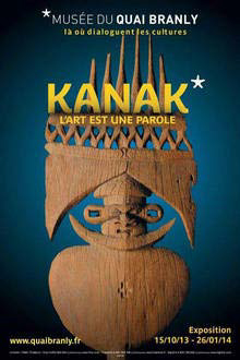 """Exposition Kanak, """"L'art est une parole"""" au Musée du quai Branly à Paris"""