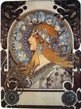 Jules-Joseph Lefebvre inspira à Alfons Mucha les figures solitaires des femmes.